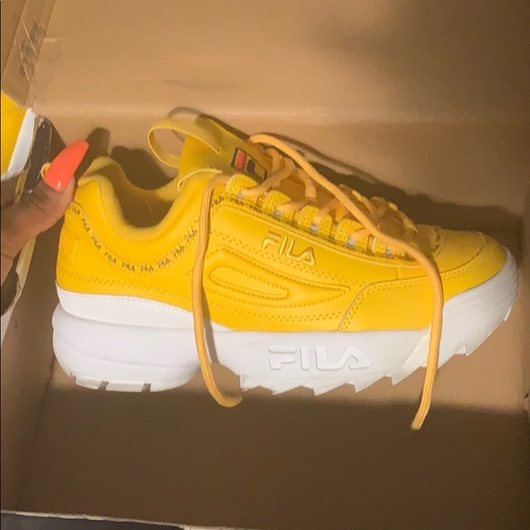 Fila Shoes | Yellow Filas | Poshmark